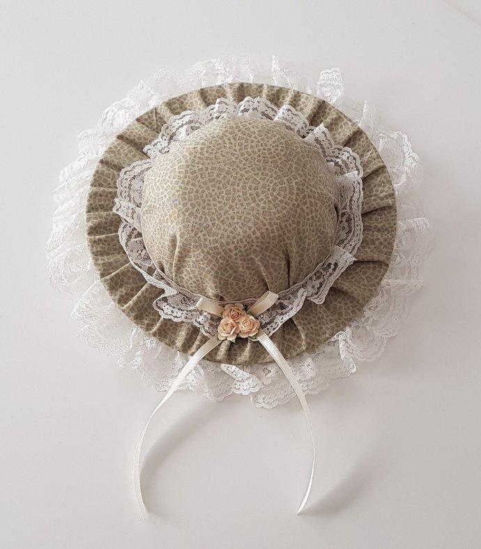 Decorative Wall Hat | Pin Cushion | Tidy Bin Lid - Olive Pavement