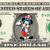 MICKEY MOUSE USA on a REAL Dollar Bill Disney Cash Money Collectible Memorabilia