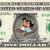 Aladdin and Jasmine on Carpet on a REAL Dollar Bill Disney Cash Money