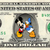 Mickey Mouse and Donald on a REAL Dollar Bill Disney Cash Money Collectible