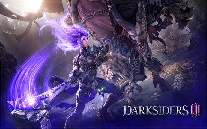 "Darksiders 3 Game  Polyester Fabric Poster (13""x19"" or 18""x28"")"