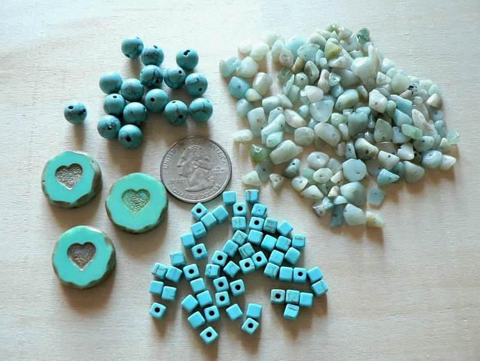 Turquoise Magnesite Bead Lot