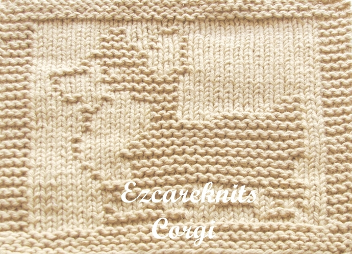 CORGI, Knitting Pattern, Face Cloth, Spa Cloth, Blanket Square, handicraft,