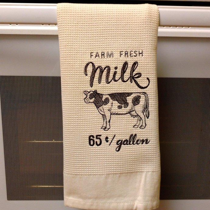 Farmers Market Kitchen Towel, New Home Howusewarming Gift, Rustic Bathroom Hand