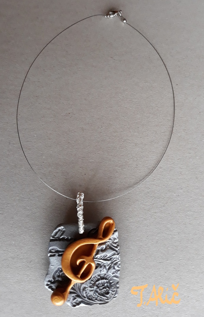 Handmade necklace (material for pendant: polymer clay - product 246/2018)