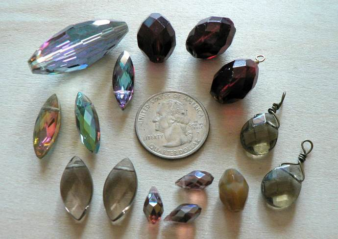 Focal Beads Pendants and Briolettes Mixed Lot