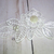 Layered Beaded Flower Applique - 4.25 inch White