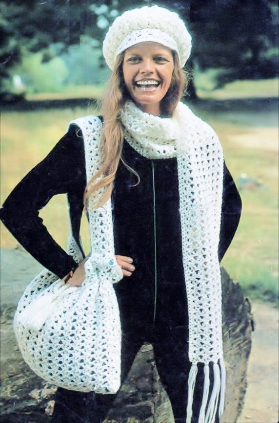 Instant PDF Digital Download Vintage Crochet Pattern Quick Easy Ladies Mod Lace