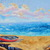 Original Beach painting on Canvas Ocean art Boat home decor Colorful oil