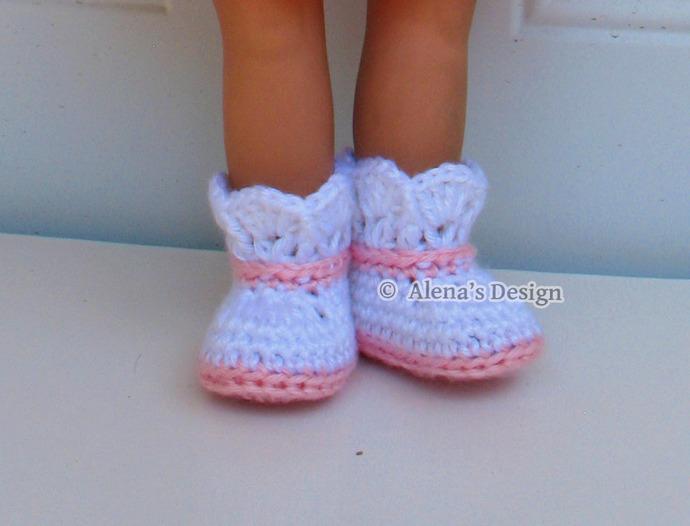 Crochet Pattern 142 Crochet Boot Pattern for 18 inch Doll Crochet Patterns Pink