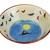 Decorative bowl, Hand painted ceramic fruit bowl, centerpiece bowl, decorative