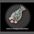 Starfox Variscite Hand Fabricated Argentium Silver + Copper Pendant Necklace