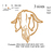 Boer goat buck embroidery design, Nubian Goat embroidery, embroidery pattern N
