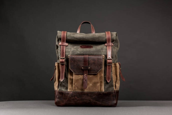 7e307a18b9a7 Waterproof Waxed Canvas Rucksack Backpack for Men Canvas Backpack Men  Backpack