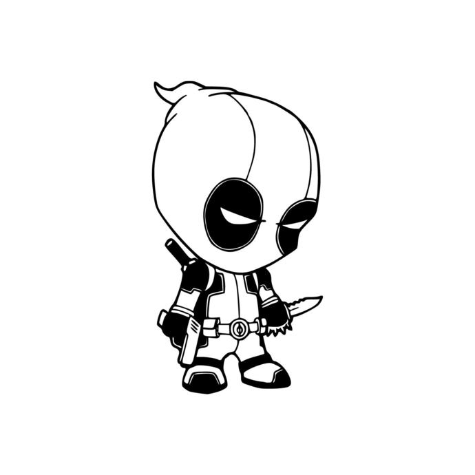 Deadpool 07 Superhero Graphics Design Svg Dxf By