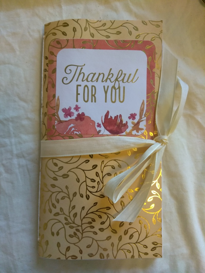 """Thankful for You"" Fall Travelers Notebook insert"