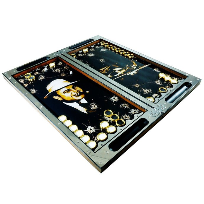 "EXCLUSIVE PREMIUM Backgammon ""PM - Mafia"". Father's Day Gift."