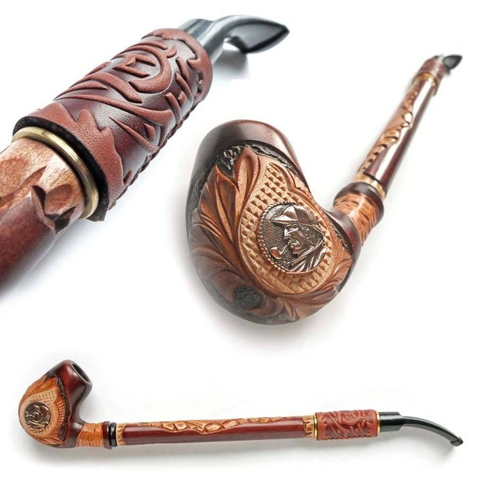 Tobacco Smoking Pipe Sherlock Holmes. Wooden pipe, Tobacco Pipe, Collection