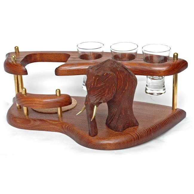 """Exclusive Wooden Mini Bar For Tequila or Vodka """"MAMMOTH"""". Hand Made, Interior"""