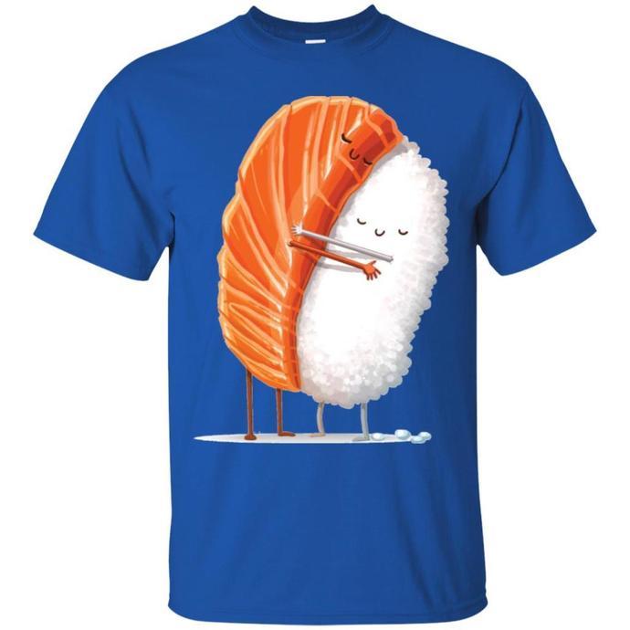 Sushi Hug Painting Men T-shirt, Sushi Hug Men T-shirt