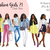 Watercolour fashion illustration clipart - Fashion Girls 21 - Dark Skin