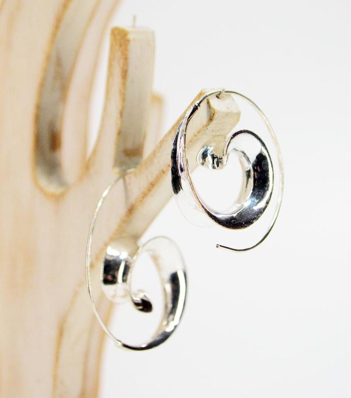 Open Hoop Brass Earrings