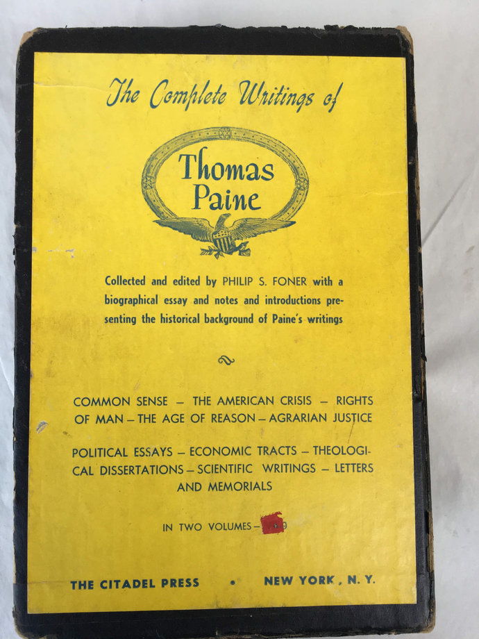 Complete Works of Thomas Paine, Philip S. Foner, 1945 1st Edition
