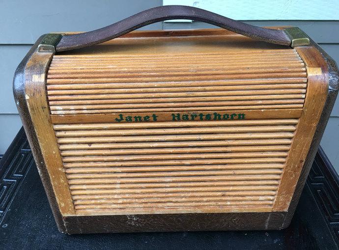 1940s Philco Radio Roll Top Tube Radio Portable