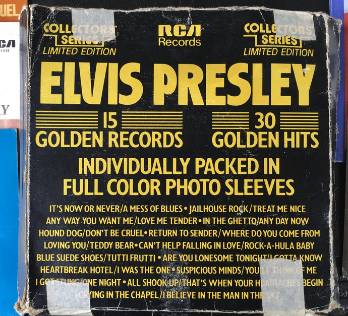Collector's Series Limited Edition Elvis Presley 15 Golden Records 30 Golden