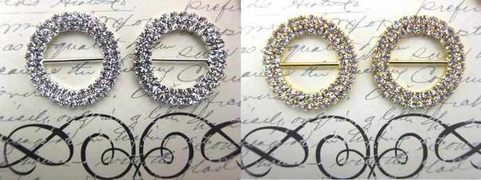 XL Crystal Buckle - Silver /Gold stl