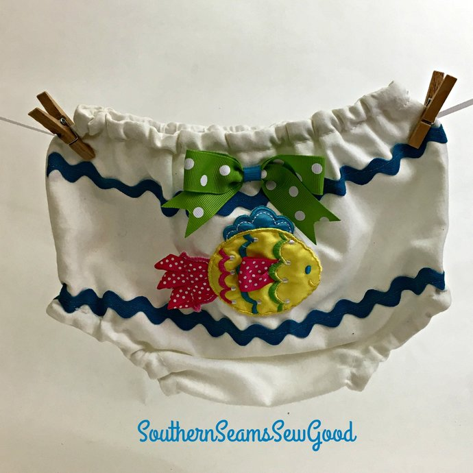 Fish Baby Britches with Matching Headband