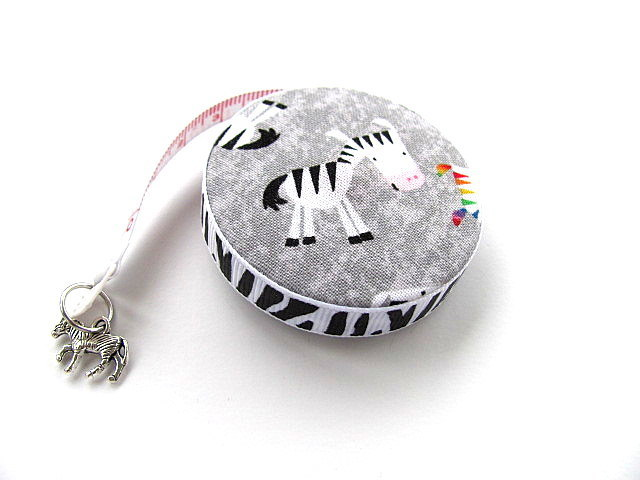 Tape Measure Colorful Zebras Pocket  Retractable Measuring Tape