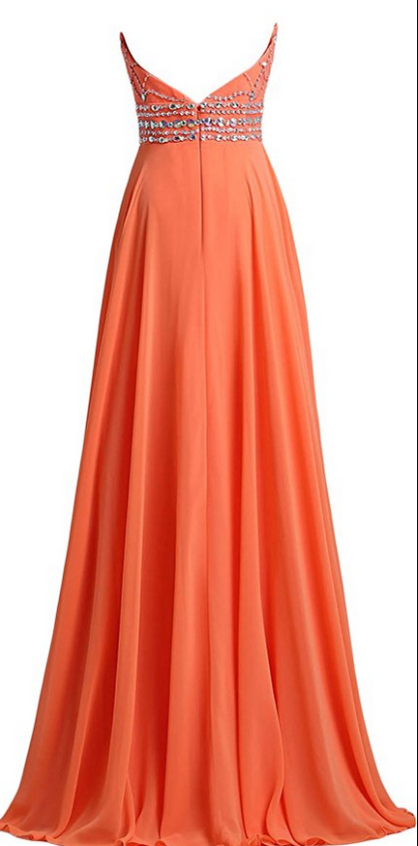 Beaded Halter Chiffon Long Prom Dress, Beautiful Party Dress 2019, Long Formal