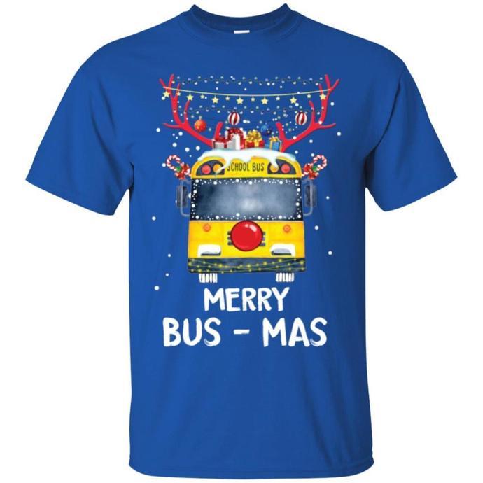 Merry Bus - Mas T shirt Gift Christmas Men T-shirt, Merry Christmas Men T-shirt