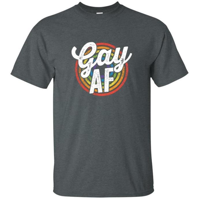 LGBT Pride Shirt Rainbow Flag Colors Gay Lesbian Ally Gift Men T-shirt