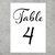 Printable Wedding Table Numbers in Elegant Script Font 1 to 30