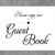 Wedding Printable Guest Book Sign with Heart
