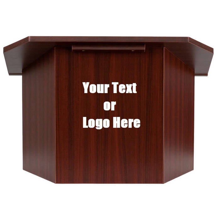 Custom Designed Folding Lectern Display With Your Personalized Text or Logo