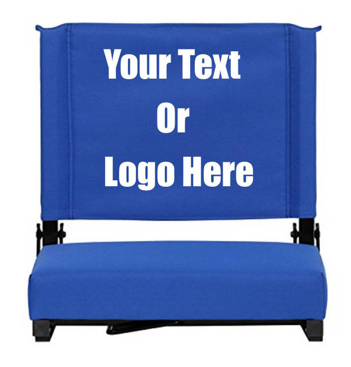 """Custom Personalized Durable Stadium Chair with 3"""" Thick Comfortable Cushion"""