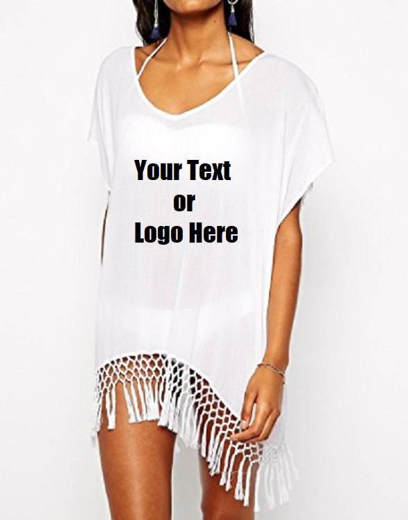 Custom Personalized Designed Women's Bohemia Printing Top Beach Bikini Cover-ups