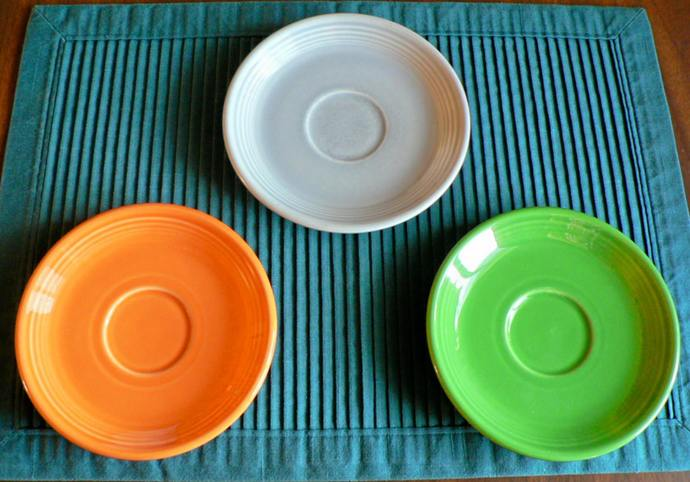 Lot of 3 Fiesta 6 Inch Plates