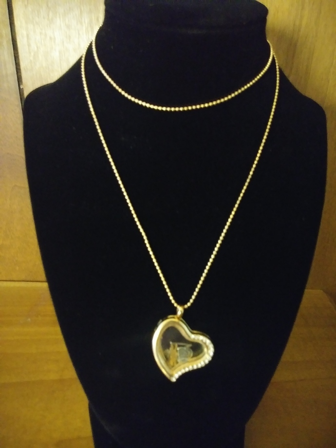 #070 Necklace with Gold Locket