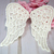 "Venice Wings Applique - 4"" Ivory"
