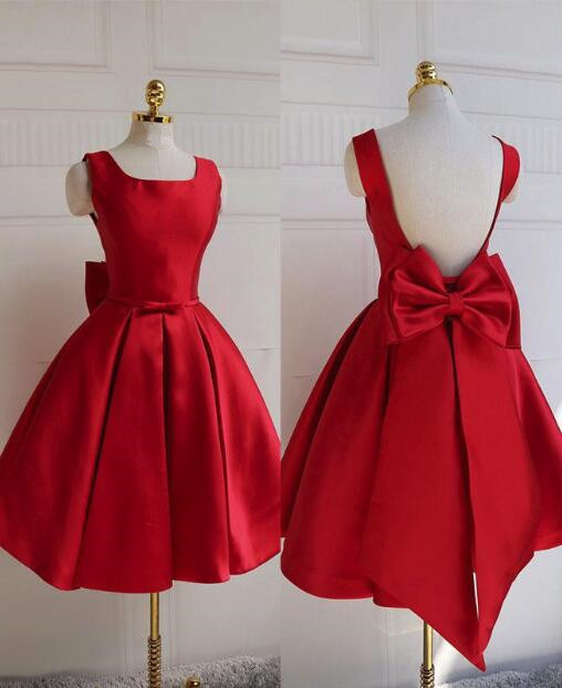 Red Party Dress, Red Homecoming Dress, Cute Short Prom Dress 2019