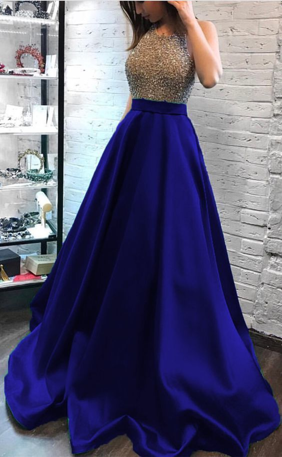 royal blue prom dresses ball gowns beaded by PrettyLady on Zibbet