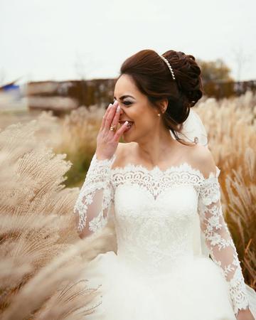 Elegant Off The Shoulder Wedding Dresses Ball Gowns Long Sleeves