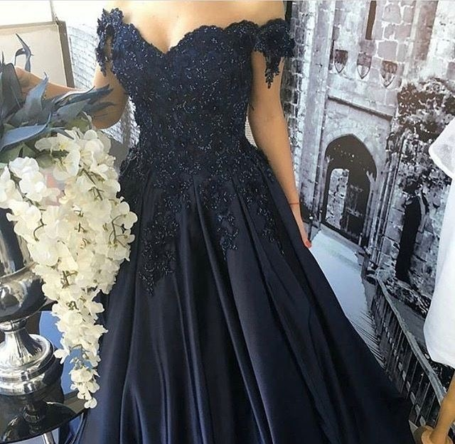 Cap Sleeves Ball Gowns Prom Dresses,Lace Flower Beads Prom Dresses Long,Prom