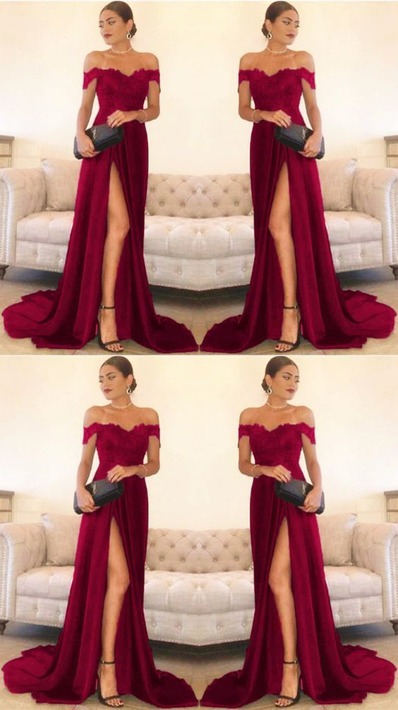1de18081ced burgundy evening dresses