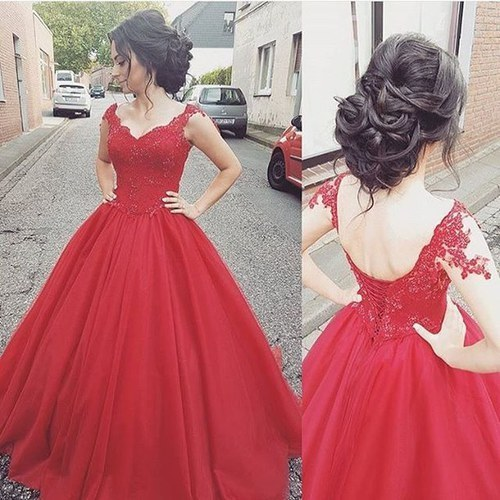 New Style Fashion Prom Gowns, Long Prom Dresses,Red Evening Gowns, Red Prom