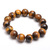 Elegant !! Natural Yellow Tiger Eye Plain Round Semi Precious Gemstone Beads